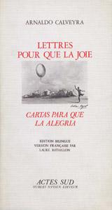 Front Cover : Lettres pour que la joie =