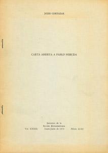 Front Cover : Carta abierta a Pablo Neruda
