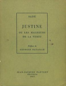 Front Cover : Justine ou Les malheurs de la vertu