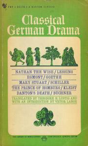 Cubierta de la obra : Classical German drama