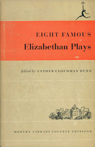 Front Cover : Eight famous Elizabethan plays