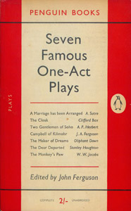 Front Cover : Seven famous one-act plays
