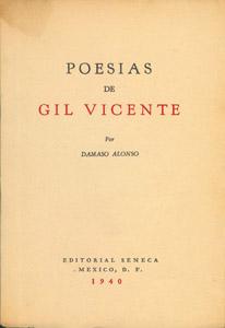 Front Cover : Poesías de Gil Vicente