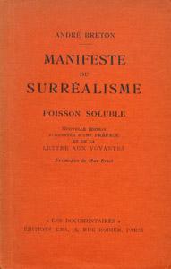 Front Cover : Manifeste du surréalisme
