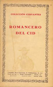 Front Cover : Romancero del Cid