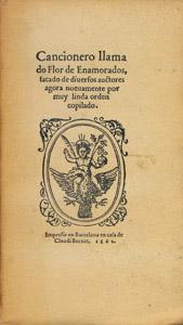 Front Cover : Cancionero llamado flor de enamorados (Barcelona 1562)