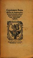 Ver ficha de la obra: Cancionero llamado flor de enamorados (Barcelona 1562)