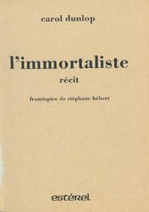 Front Cover : L' immortaliste