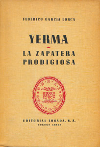 Front Cover : Yerma ; La zapatera prodigiosa