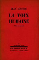 La voix humaine pièce en un acte [1934]. Biblioteca