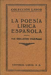 Front Cover : La poesía lírica española