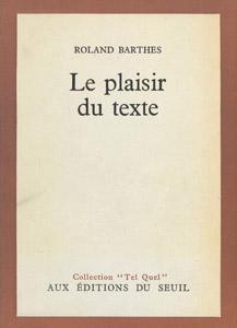 Front Cover : Le plaisir du texte