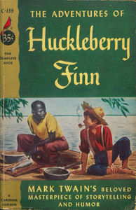 Front Cover : The adventures of Huckleberry Finn