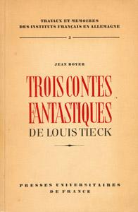 Front Cover : Trois contes fantastiques