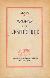 Front Cover : Propos sur l'esthétique