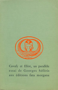 Front Cover : Cavafy et Eliot, un parallèle