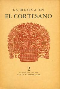 Front Cover : La música en El Cortesano, de Baltasar Castiglione, y su traducción por Juan Boscán