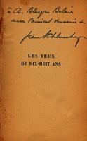 Les yeux de dix-huit ans [1928]. Biblioteca