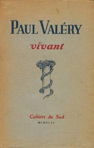 Cubierta de la obra : Paul Valery, vivant