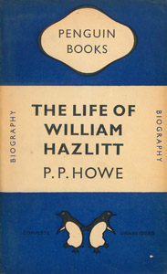 Cubierta de la obra : The life of William Hazlitt