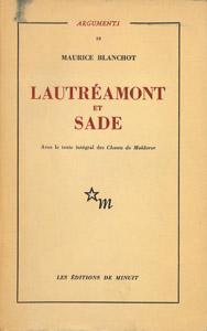 Front Cover : Lautréamont et Sade