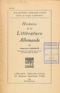 Front Cover : Histoire de la littérature allemande
