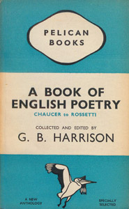 Front Cover : A book of English poetry