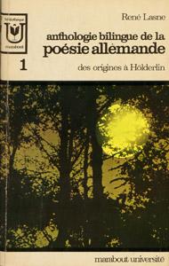 Front Cover : Anthologie bilingue de la poésie allemande