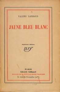 Front Cover : Jaune, bleu, blanc