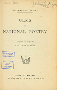 Front Cover : Gems of national poetry