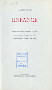 Front Cover : Enfance