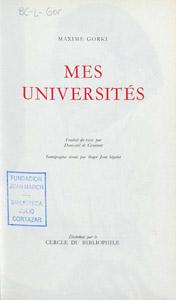 Front Cover : Mes universités