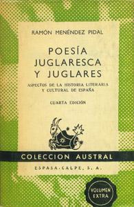 Front Cover : Poesía juglaresca y juglares