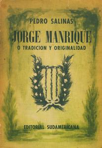 Front Cover : Jorge Manrique o Tradición y originalidad
