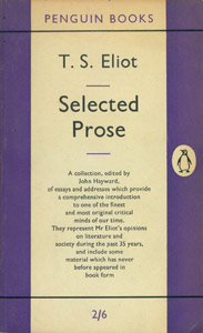 Front Cover : Selected prose
