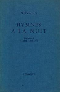 Cubierta de la obra : Hymnes a la nuit