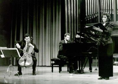Josep Soler, Rafael Ramos, Jorge Robaina y Silvia Leivinson. Concierto Mater Dolorosa de Josep Soler - Aula de (Re)estrenos [15]