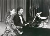 Irini Gaitani y Julio Muñoz. Recital de dúo de piano , 1993