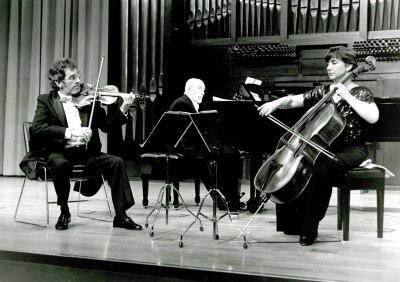 Trío Serrano-Yepes, Jesús Yepes Hernández, Pilar Serrano y Jesús Yepes Cottes. Recital de música de cámara