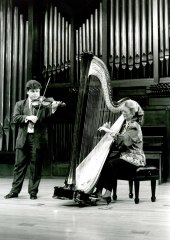 Angelines Domínguez y Manuel Guillén. Concierto Alrededor del arpa (En homenaje a Zabaleta) , 1993