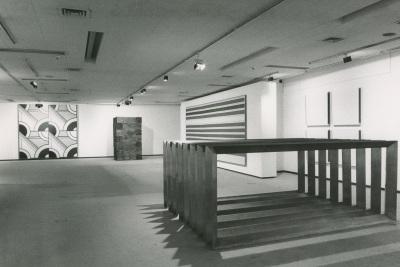 Vista parcial. Exposición Minimal Art