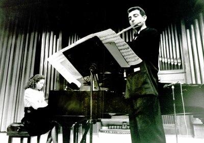 Gustavo Sánchez López y Caridad Galindo. Recital de flauta y piano