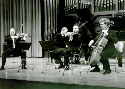Joaquín Palomares, Paul Cortese, Mark Friedhoff y Michel Wagemans. Concierto Gabriel Fauré
