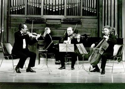 Alexander Detisov, Igor Suliga, Alexander Osokin y Eugenia Gabrieluk. Concierto Música de cámara: del dúo al quinteto