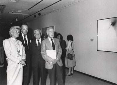 Juan Antonio Vallejo Nájera, Joaquín Calvo Sotelo y Luis Escobar. Exposición Fernando Zóbel