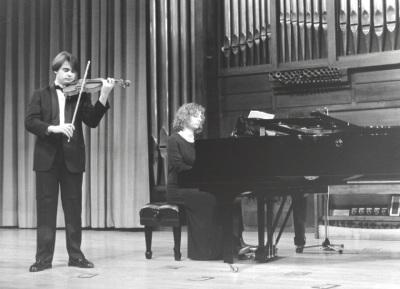 José Herrador y Irini Gaitani. Recital de violín y piano