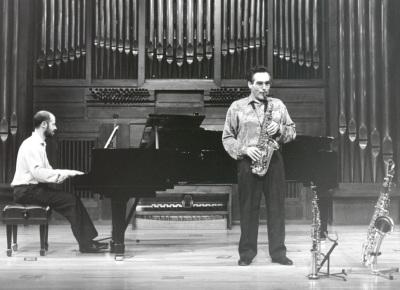 Manuel Miján y Sebastián Mariné. Concierto Alrededor del saxofón