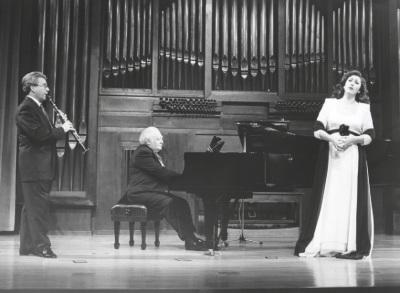 Adolfo Garcés, Miguel Zanetti y Mª José Montiel. Concierto Schubert: música de cámara