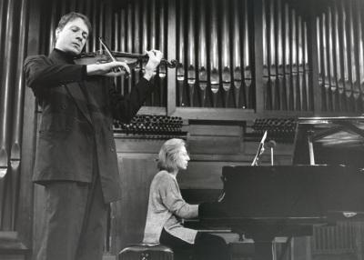 Johannes Heidts y Elisa Agudiez. Concierto El violín virtuoso