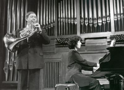 Miguel Ángel Colmenero y Isabel Fátima Hernández. Concierto Alrededor de la trompa